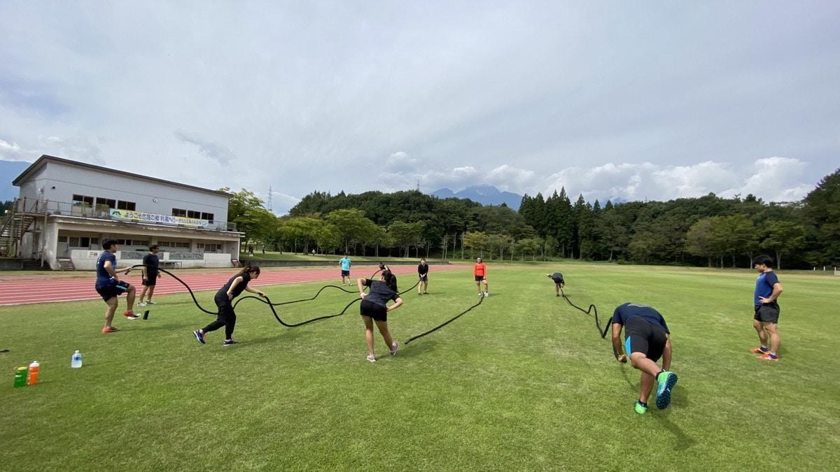 日本体育大学スキー部・フィジカル強化合宿